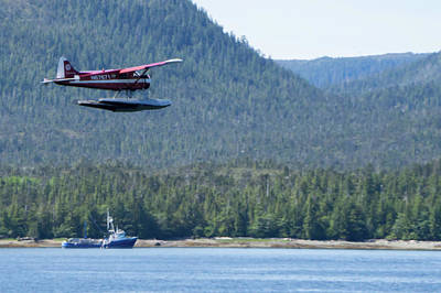 The Champagne Collection - Single Prop Airplane Pontoon Plane Water Landing Alaska Last Fro by Alex Grichenko