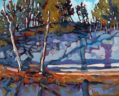 Reflections Of Shadows Painting - Singleton Marble by Phil Chadwick