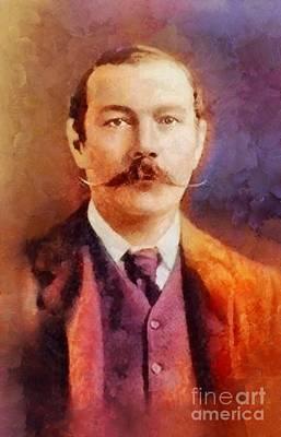 Literature Painting - Sir Arthur Conan Doyle, Literary Legend by Sarah Kirk