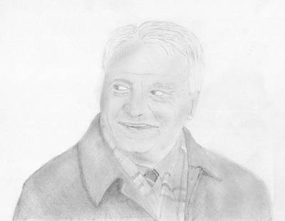 Eindhoven Drawing - Sir Bobby Robson by Chris Hall