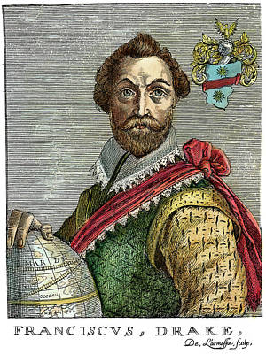 Drawing - Sir Francis Drake, C1540-1596 by Granger