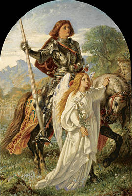 Painting - Sir Galahad And The Angel by Joseph Noel Paton