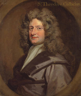 Kneller Painting - Sir Theodore Colladon by Godfrey Kneller