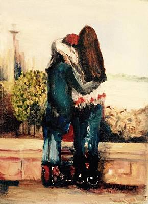 Painting - Sisters In Seattle by Chuck Gebhardt