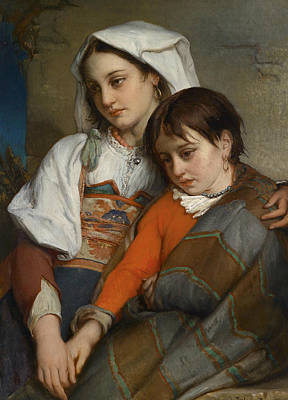 Painting - Sisters  by Jean-Francois Portaels