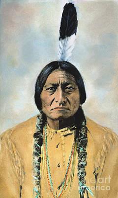 Barry Photograph - Sitting Bull (1834-1890) by Granger