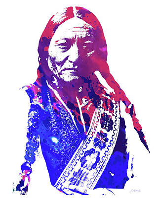 Bull Art Wall Art - Drawing - Sitting Bull by Greg Joens