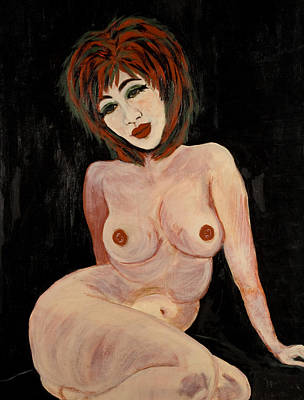 Painting - Sitting Nude by Treza Bettencourt