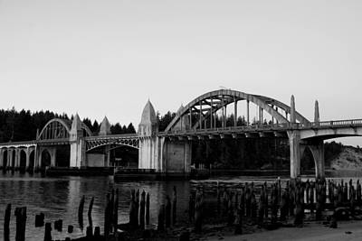 Photograph - Siuslaw Bridge by Lawrence Pratt