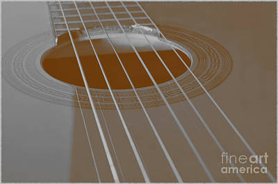 Six Guitar Strings Art Print