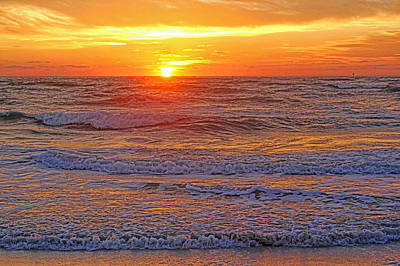 Photograph - Sizzle - Sunset On The Gulf Of Mexico By H H Photography Of Florida by HH Photography of Florida