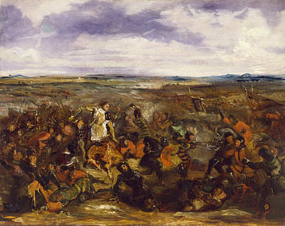 Romanticism Painting - Sketch For The Battle Of Poitiers by Eugene Delacroix