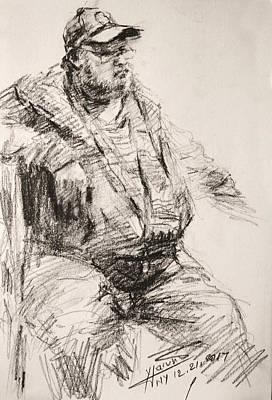 Pencil Portrait Wall Art - Drawing - Sketch Man 20 by Ylli Haruni