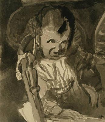 Drawing - Sketch Of Felix Klee by Paul Klee