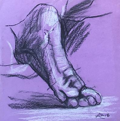 Drawing - Sketch Of Foot by Alejandro Lopez-Tasso