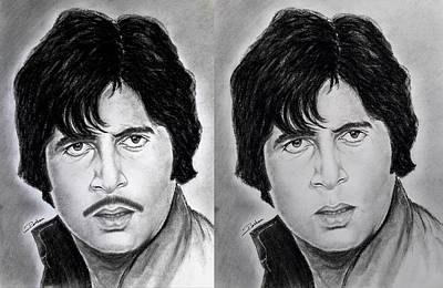 Amitabh Drawing - Sketches Of Roshan Patel by Roshan Patel