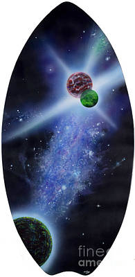 Painting - Skimming The Universe by Mary Scott