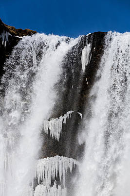 Cold Temperature Photograph - Skogarfoss Waterfall In The Winter by Panoramic Images