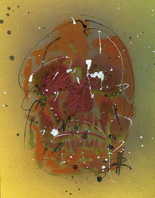 Painting - Skull #4 by Ryan  Hopkins