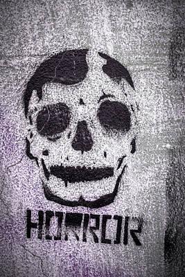 Grunge Skull Painting - Skull by Germano Poli