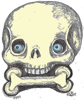 Skullnbone Art Print by Robert Wolverton Jr