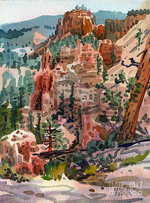 Canyon Painting - Skunk Creek Trailhead At Bryce by Donald Maier
