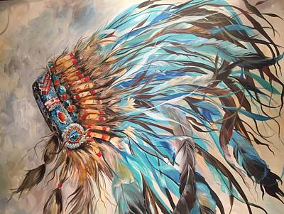 Sky Feather Art Print by Heather Roddy