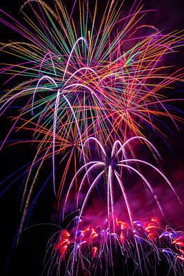 Sky Full Of Fireworks Art Print
