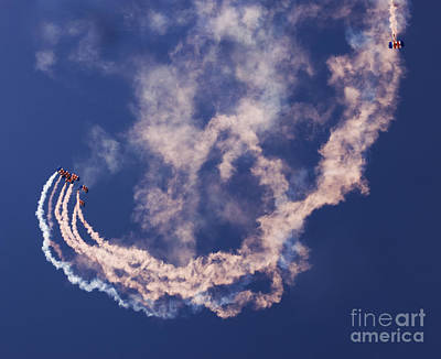 Raf Photograph - Skydivers by Angel  Tarantella