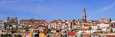 Monastery Photograph - Skyline And Cityscape Of The City Of Porto In Portugal by Jose Elias - Sofia Pereira