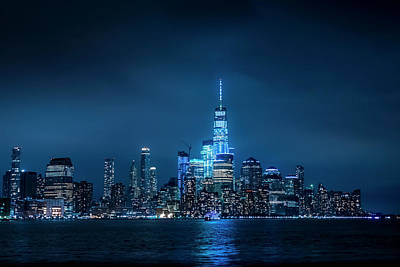 Photograph - Skyline At Night by Daniel Carvalho