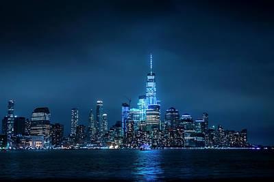 Skyline At Night Art Print