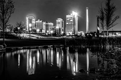 Skyline Of Birmingham Alabama From Railroad Park Art Print by Alex Grichenko