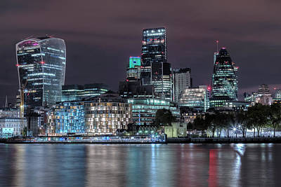Gherkin Photograph - Skyline Of London by Joana Kruse