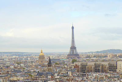 Paris Skyline Royalty-Free and Rights-Managed Images - skyline of Paris with eiffel tower by Anastasy Yarmolovich