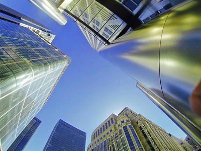 Digital Art - Skyscrapin' Blues by Steve Swindells