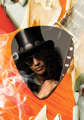 Legends Mixed Media - Slash Art by Marvin Blaine