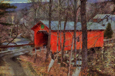 Photograph - Slaughterhouse Covered Bridge by Jeff Folger