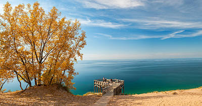 Photograph - Sleeping Bear Overlook by Larry Carr