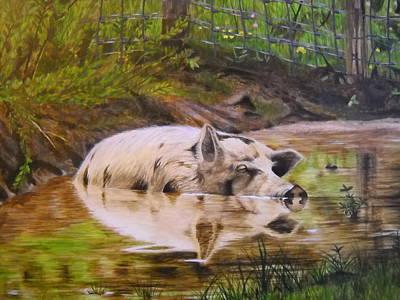 Reggie Painting - Sleepy Wallow by Darcie Cristello