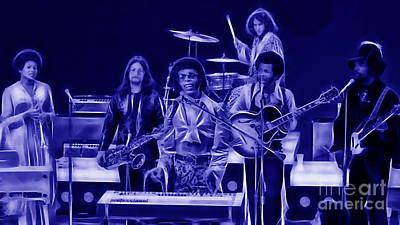 Sly And The Family Stone Collection Print by Marvin Blaine