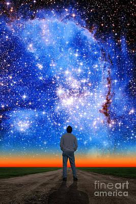 Photograph - Small Magellanic Cloud by Larry Landolfi