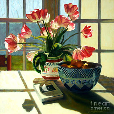 Fruit Bowl Window Painting - Small Miracles by Jane  Simonson