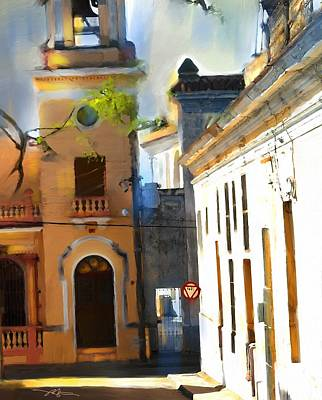 City Scape Digital Art - small town in Cuba by Bob Salo