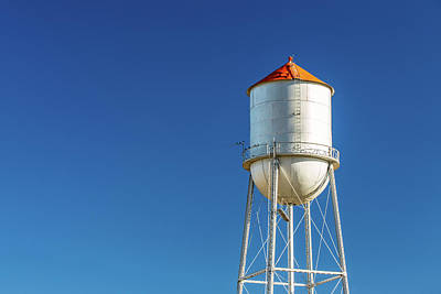 Small Town Water Tower Art Print