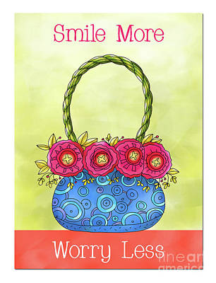 Vale Mixed Media - Smile More Worry Less by Pam Vale