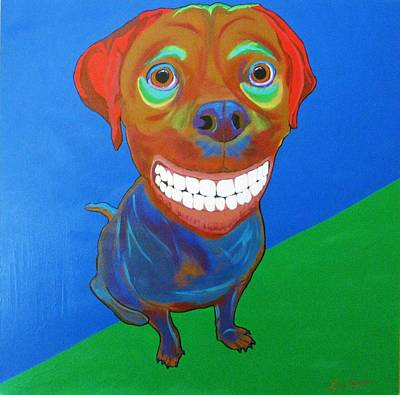 Music Themed Art Painting - Smiley by Bill Manson
