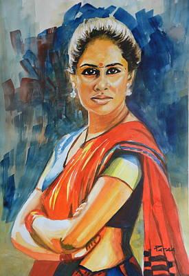 Drawing - Smita by Parag Pendharkar