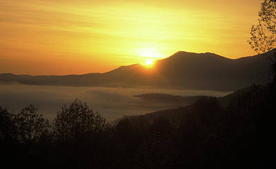 Photograph - Smoky Mountain Sunrise by John Burk