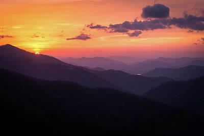 Photograph - Smoky Mountain Sunrise by Serge Skiba